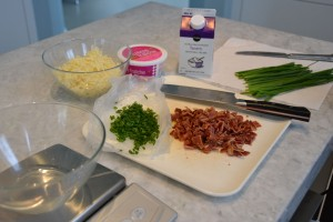 Prepped Scone Ingredients