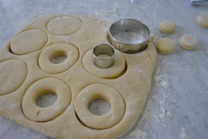 Roll and Shape the Doughnuts